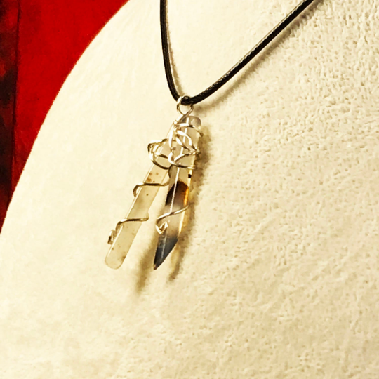 Double Dendritic Wrapped Pendant