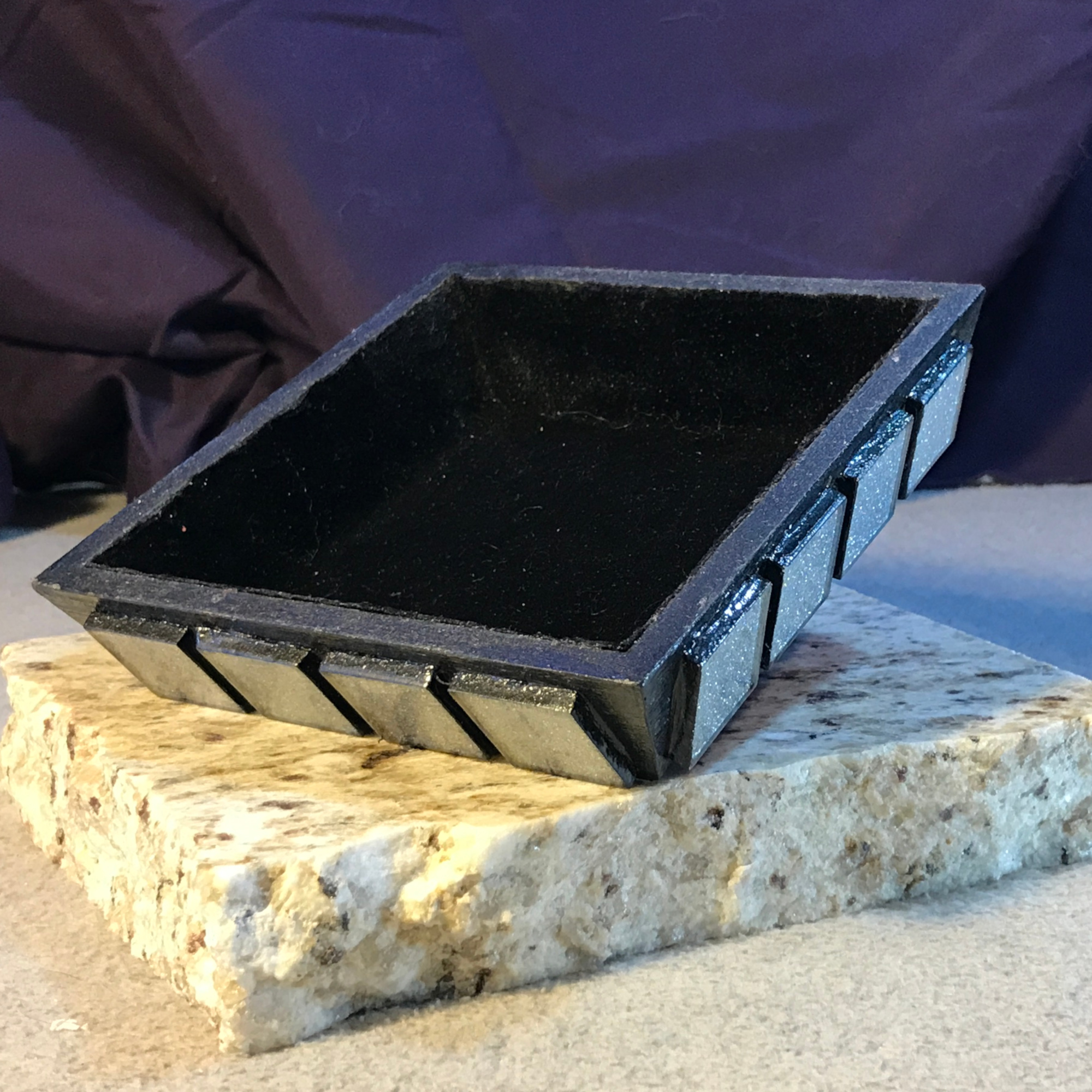 Small Gaming Token Trays with Glass Tiles